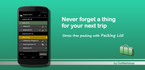 packinglist