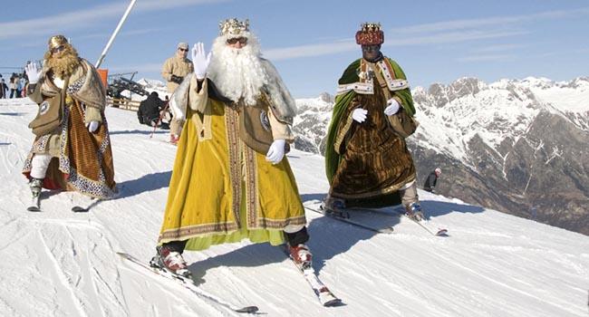 Reyes magos en Cerler /foto HERALDO/