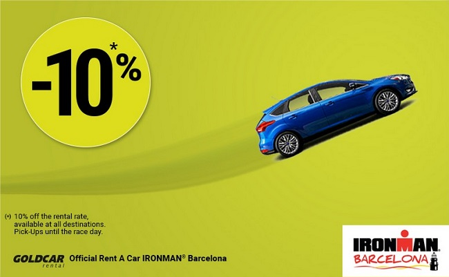 10% off in your Goldcar rental car - Ironman Calella